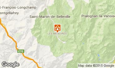 Karte Les Menuires Studio 27183