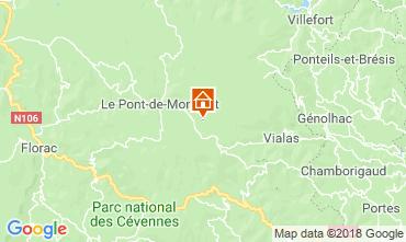 Karte Mont Lozère Haus 117356