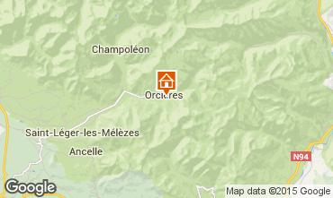 Karte Orcières Merlette Ferienunterkunft auf dem Land 74210