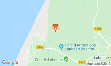 Karte Labenne Océan Mobil-Home 102283
