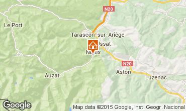 Karte Ussat les Bains Ferienunterkunft auf dem Land 3918