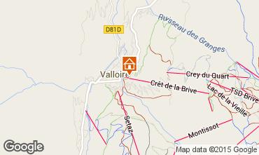 Karte Valloire Appartement 73430