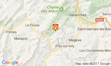 Karte La Giettaz en Aravis Appartement 107658