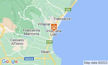 Karte Villapiana Appartement 47027