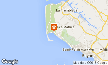 Karte La Palmyre Mobil-Home 87076