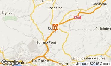 Karte Hyères Villa 16069