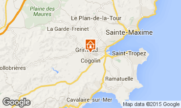 Karte Saint Tropez Villa 72525
