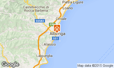 Karte Albenga Appartement 54751