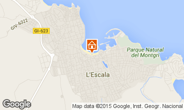 Karte L'Escala Haus 82099