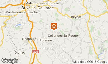 Karte Brive-la-Gaillarde Ferienunterkunft auf dem Land 102138