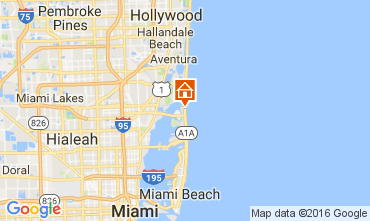 Karte Miami Beach Appartement 47405