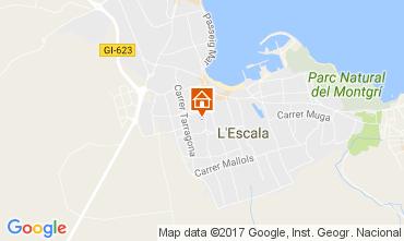 Karte L'Escala Villa 107579