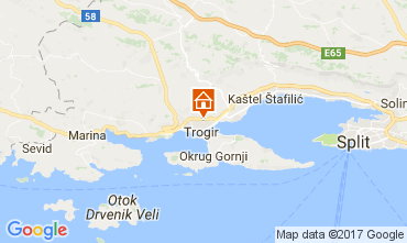 Karte Trogir Haus 112579