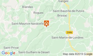 Karte Saint Guilhem le Désert Ferienunterkunft auf dem Land 118532