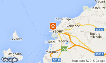 Karte Trapani Fremdenzimmer 72970