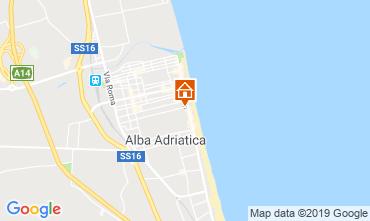 Karte Alba Adriatica Appartement 118420