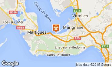 Karte Martigues Ferienunterkunft auf dem Land 77133