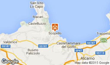 Karte Scopello Villa 31625