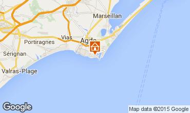 Karte Cap d'Agde Appartement 62881