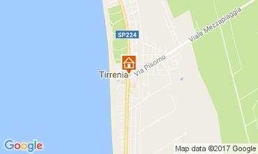Karte Tirrenia Appartement 106079