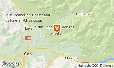 Karte Ancelle Chalet 68591