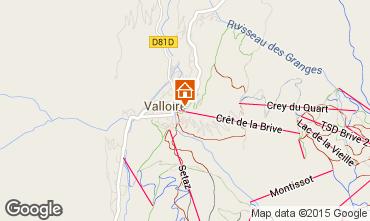 Karte Valloire Appartement 79627