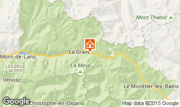 Karte La Grave - La Meije Appartement 79479