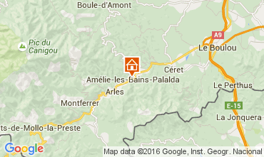 Karte Amélie-Les-Bains Studio 18749
