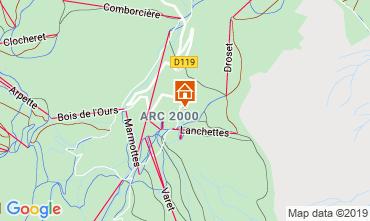 Karte Les Arcs Studio 73833