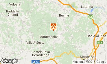 Karte Siena Ferienunterkunft auf dem Land 84894