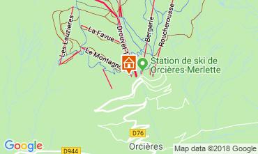 Karte Orcières Merlette Appartement 112952