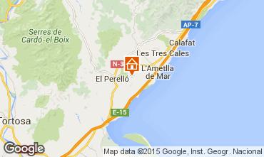 Karte La Ametlla de Mar Ferienunterkunft auf dem Land 96099