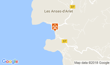 Karte Anses d'Arlet Appartement 90232
