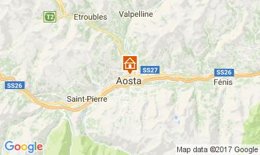 Karte Aosta Appartement 112221