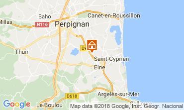 Karte Collioure Ferienunterkunft auf dem Land 114093
