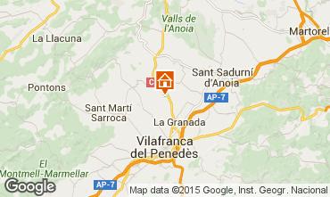 Karte Barcelona Ferienunterkunft auf dem Land 17009