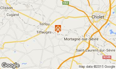 Karte Le Longeron Ferienunterkunft auf dem Land 23161