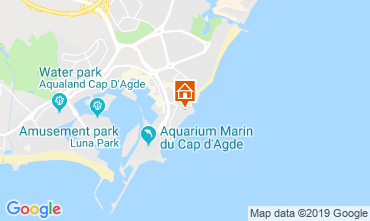 Karte Cap d'Agde Appartement 33425