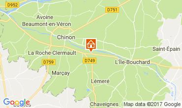 Karte Chinon Haus 112374