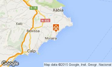 Karte Moraira Villa 49775