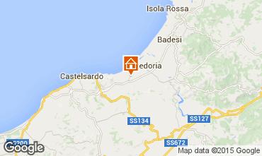 Karte Valledoria Appartement 92818
