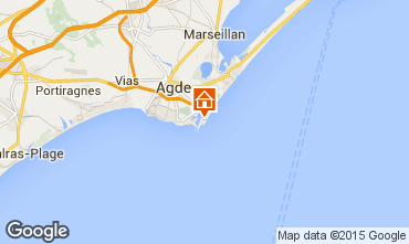 Karte Cap d'Agde Appartement 100464
