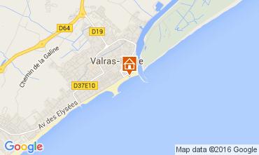 Karte Valras-Plage Mobil-Home 104736