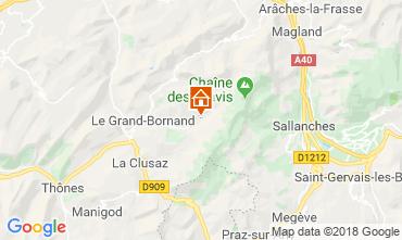 Karte Le Grand Bornand Chalet 110705