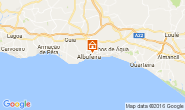 Karte Albufeira Appartement 106350