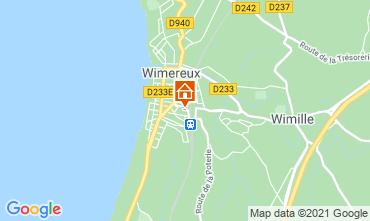 Karte Wimereux Ferienunterkunft auf dem Land 95721