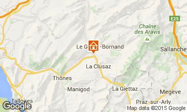 Karte La Clusaz Chalet 84818