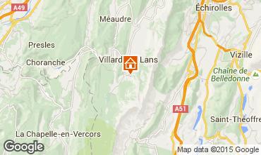 Karte Villard de Lans - Corrençon en Vercors Ferienunterkunft auf dem Land 3696