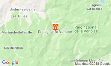Karte Pralognan la Vanoise Appartement 38850