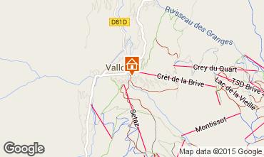 Karte Valloire Appartement 26150